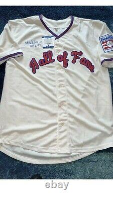 Mike Mussina Signed Baseball Hall Of Fame Jersey Baltimore Orioles Beckett