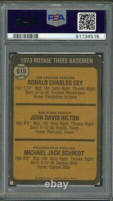 Mike Schmidt 1973 Topps Rookie #615 PSA 2 Hall of Fame / 500 Home Run Club
