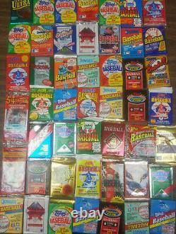Monster lot of unopened baseball card packs Plus Rookie & Hall Of Fame Bonuses