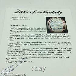 Nice Hank Aaron Willie Mays Hall Of Fame Signed Baseball 17 Sigs PSA DNA COA