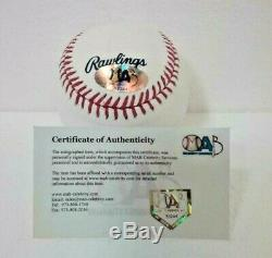 PEDRO MARTINEZ SIGNED Autograph Hall of Fame MLB OFFICIAL BASEBALL MAB COA HOF