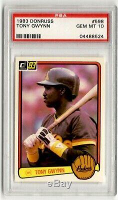 PSA 10 Tony Gwynn 1983 Donruss #598 Rookie Card, San Diego Padres, Hall of Fame