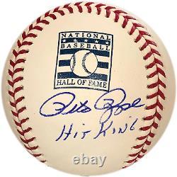 Pete Rose Hit King Autographed Hall of Fame Baseball (JSA)