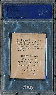 RAYMOND BROWN 1945-1946 Caramelo Deportivo #30 PSA 1 POOR HALL OF FAME HOF