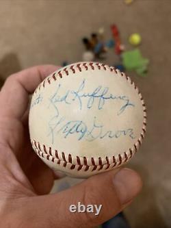 Red Ruffing Lefty Grove Jesse Haines Waite Hoyt Hall Of Fame Signed Baseball