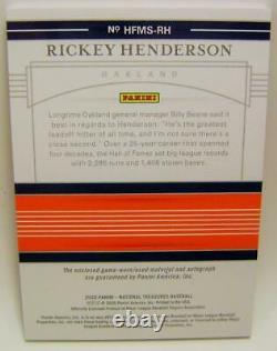 Rickey Henderson /25 Auto Hall Of Fame Signatures Panini National Treasures 2020