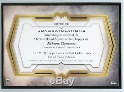 Roberto Clemente 2020 Topps Transcendent Hall of Fame Oversized Cut Auto 1/1