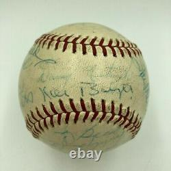 Roberto Clemente Nellie Fox Pie Traynor Hall Of Fame Multi Signed Baseball JSA