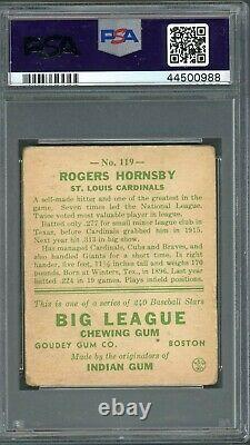 Rogers Hornsby 1933 Goudey #119 PSA 2 Hall of Fame Great / Centered