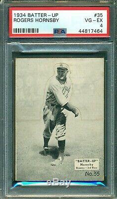Rogers Hornsby 1934 Batter-Up #35 PSA 4 Hall of Fame Legend / St. Louis