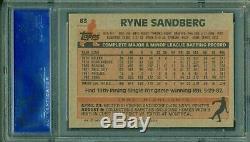 Ryne Sandberg 1983 Topps Rookie #83 PSA 10 GEM MINT Cubs Hall of Fame