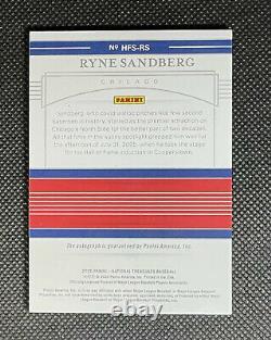 Ryne Sandberg 2020 Panini National Treasures Hall of Fame Auto 1/1 ON CARD CUBS