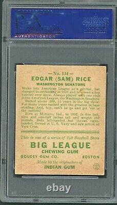 Sam Rice 1933 Goudey #135 PSA 2 Washington Senators Hall of Fame