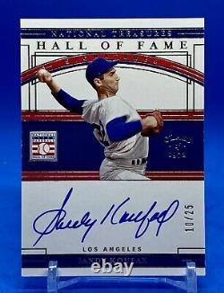 Sandy Koufax Panini 2020 National Treasures Hall Of Fame Autograph 10/25 Dodgers