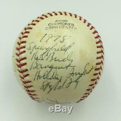 Satchel Paige 1978 Springfield Redbirds Hall Of Fame Signed Baseball JSA COA