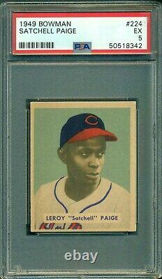 Satchell Paige 1949 Bowman Rookie #224 PSA 5 Hall of Fame Hurler / Hot