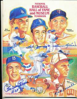 Signed 1984 Don Drysdale & 4 others National Hall of Fame Baseball Yearbook