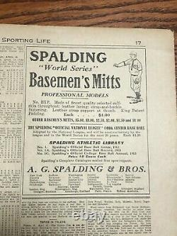 Sporting Life Magazine, Nap Lajoie, 1913, Baseball Hall of Fame- Extremely Rare