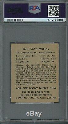 Stan Musial 1948 Bowman Rookie #36 PSA 4.5 St. Louis Legend/Hall of Fame