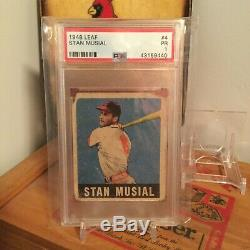 Stan Musial 1948 Leaf #4 RC PSA 1 Hall of Fame Cardinals