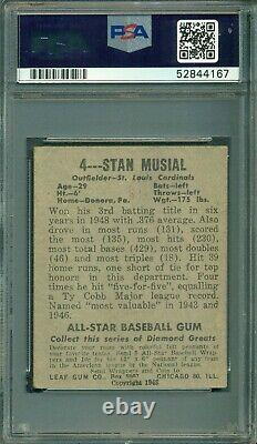 Stan Musial 1948 Leaf Rookie #4 PSA 3 Hall of Fame Legend/Great Eye Appeal