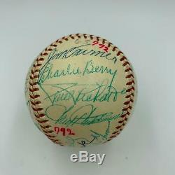 Stunning Jimmie Foxx Connie Mack 1950's Hall Of Fame Multi Signed Baseball JSA
