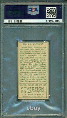 T205 Gold Border John McGraw PSA 4 Sovereign Back Hall of Fame / Sharp