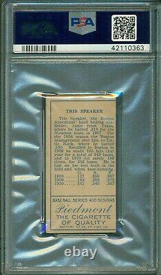 T205 Gold Border Tris Speaker PSA Authentic Hall of Fame Looks EX-MT