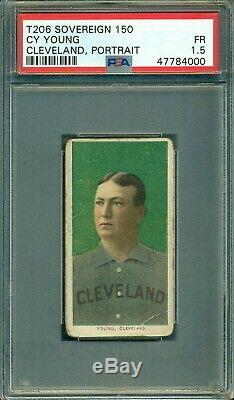 T206 Cy Young Portrait PSA 1.5 Sovereign 150 Hall of Fame Legend Nice