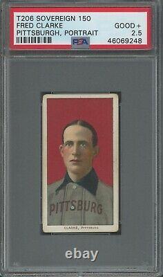 T206 Fred Clarke Portrait PSA 2.5 Sovereign 150 Hall of Fame/Sharp Card