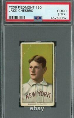 T206 Jack Chesbro PSA 2 (mk) Piedmont 150 Hall of Fame Portrait/New York