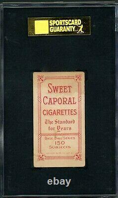 T206 Nap Lajoie Portrait SGC 30 Hall of Fame Legend / Red Hot Tobacco Card