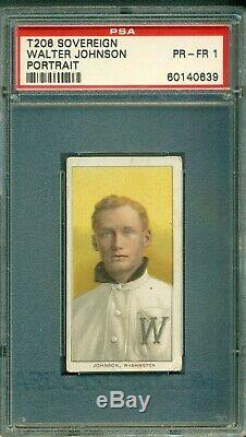 T206 Walter Johnson Portrait PSA 1 Sovereign Back Hall of Fame Icon