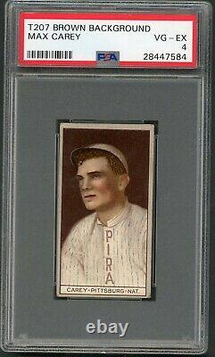 T207 Brown Background Max Carey Rookie PSA 4 Recruit Cigars / Hall of Fame