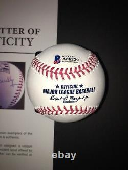 Vin Scully Signed Official Hall Of Fame Baseball Los Angeles Dodgers Beckett
