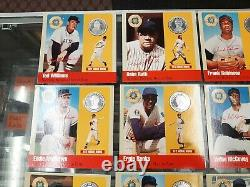 Vintage Hall Of Fame Legends Of Baseball 500 Club. 999 Silver Coin Set With Tin