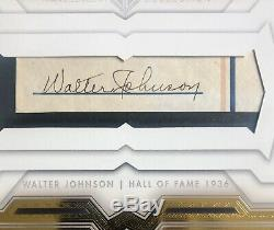 Walter Johnson, 2020 Topps Transcendent Cut Auto #d 1/1 Hall Of Fame, Class 1936