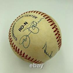 Whitey Ford Duke Snider Warren Spahn Al Kaline Hall Of Fame Signed Baseball