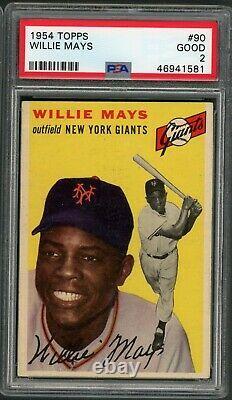 Willie Mays 1954 Topps #90 PSA 2 Hall of Fame Slugger Centered 50/50