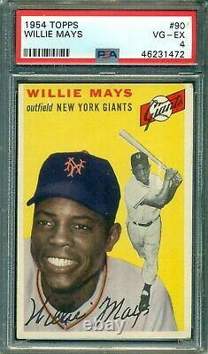 Willie Mays 1954 Topps #90 PSA 4 Hall of Fame Slugger / Great Colors