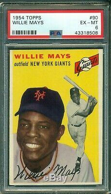 Willie Mays 1954 Topps #90 PSA 6 Hall of Fame Legend Just Graded/Sharp