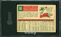 Willie Mays 1959 Topps #50 SGC 5.5 Hall of Fame Legend