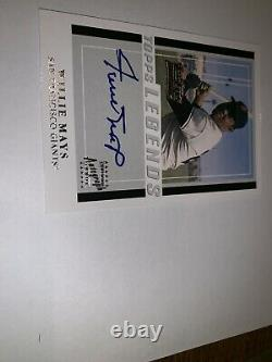Willie Mays Auto 2003 Topps Team Legends Autograph Hall Of Fame PSA 9/10