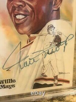 Willie Mays Signed Perez Steele Postcard Auto Hall Of Fame Bgs Beckett