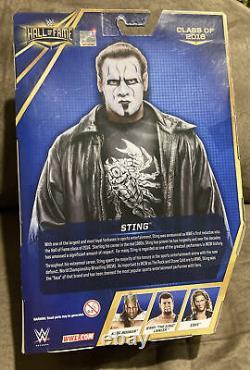 Wwe Sting Mattel Elite Hall Of Fame Figure Vigilante Exclusive Hof 2016 Wcw